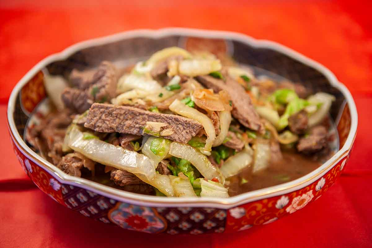 Beef With Cabbage (Shaptse)