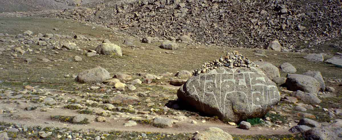 Mount Kailash mani stones