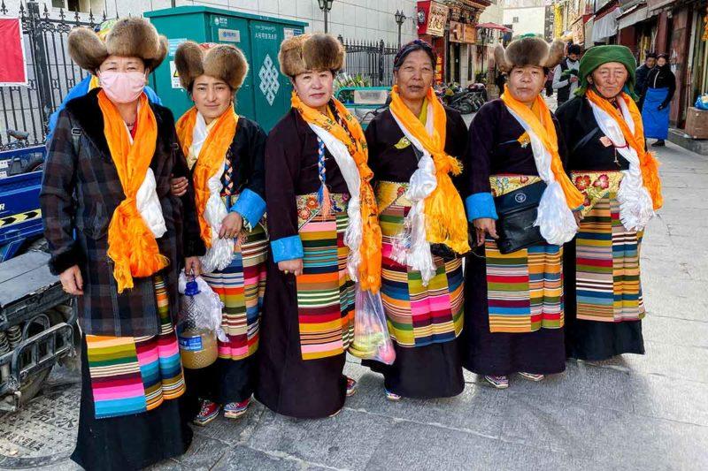 Lhasa Ladies on Panden Lhamo Festival Day.