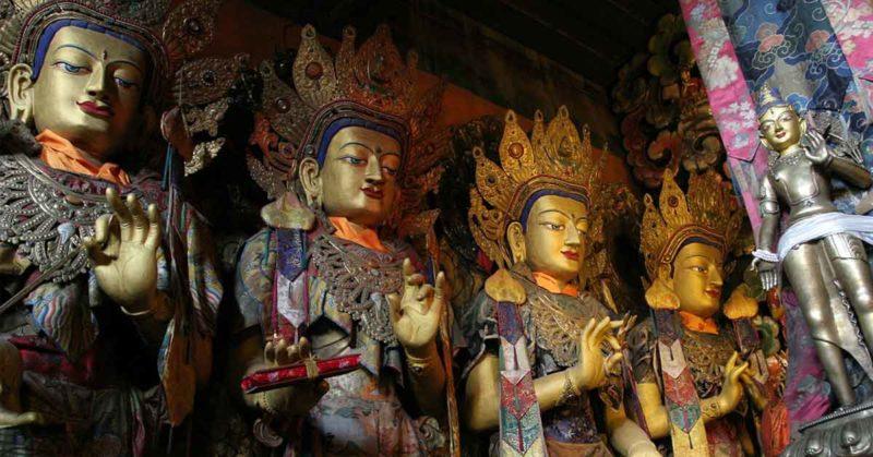 Statues at Sera Monastery