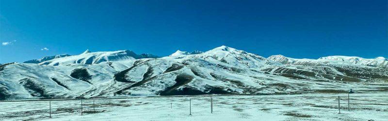 Tibet train panorama