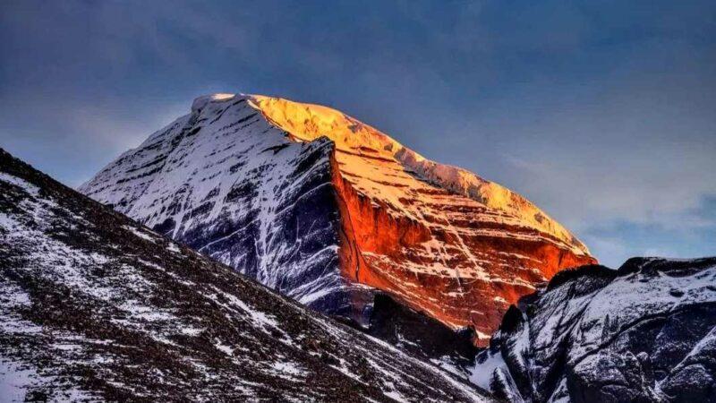 Sunrise on the holy mountain of Kailash