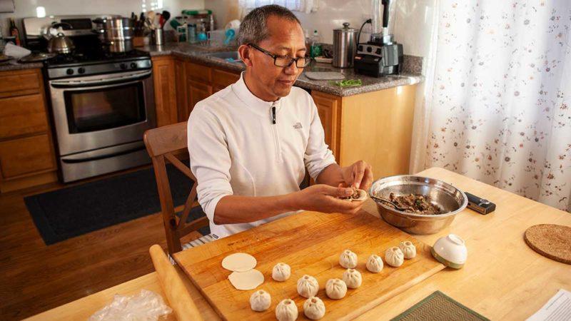 Lobsang Wangdu's Tibetan momos recipee.