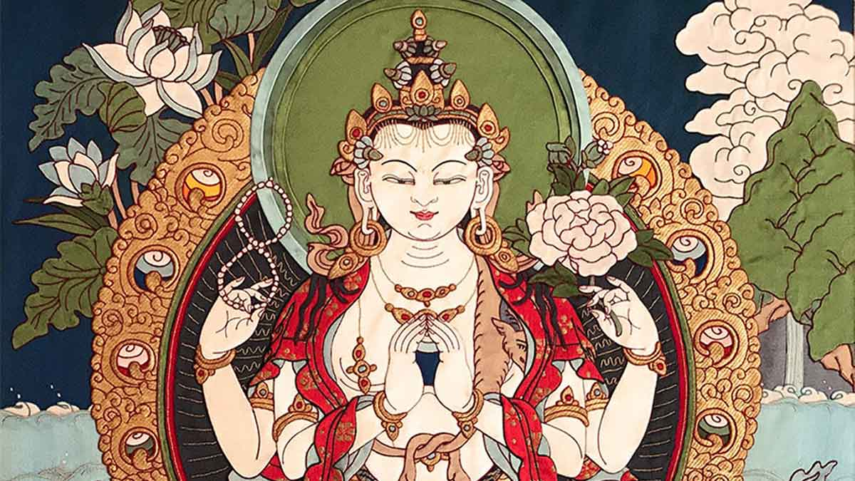 Tibetan deity of compassion, Chenrezig/Avalokitesvara: Bodhisattva of Compassion