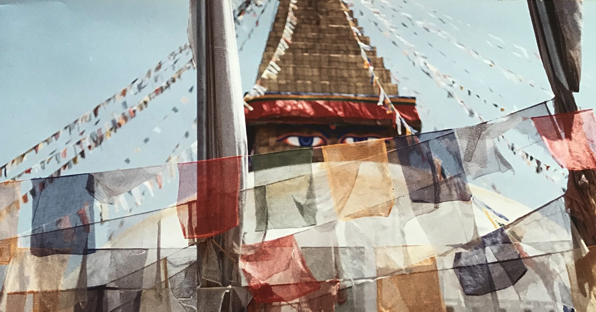 Boudhanath Stupha in Kathmandu, Nepal.