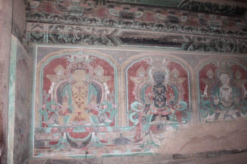 Chuthang monastery mural