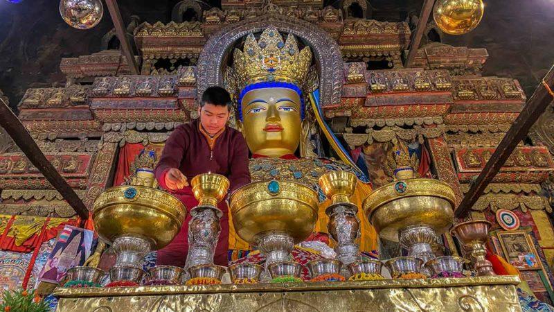 Pelchor Chode Monastery in Gyantse, Tibet.