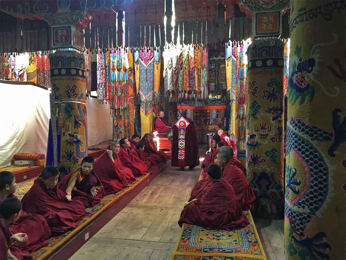 Monks are Prayer Hall