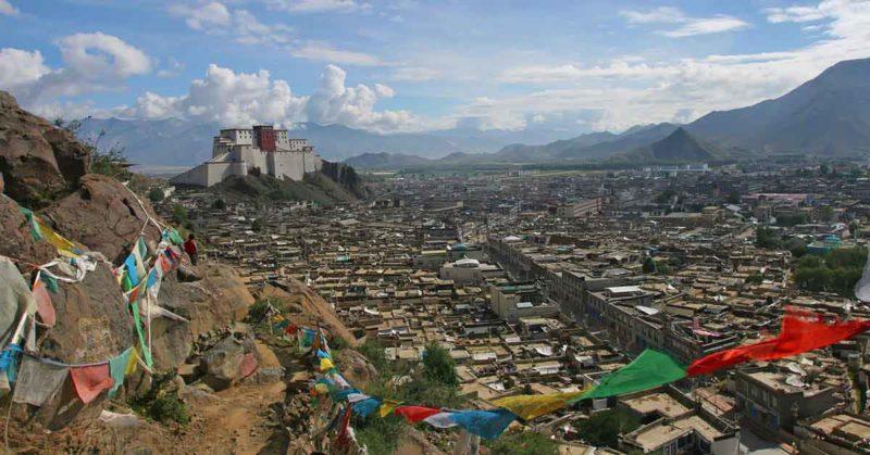 View of old Shigatse from the Tashilumpo Kora.