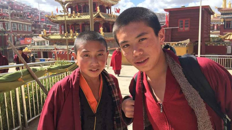 Two young monks at larung gar