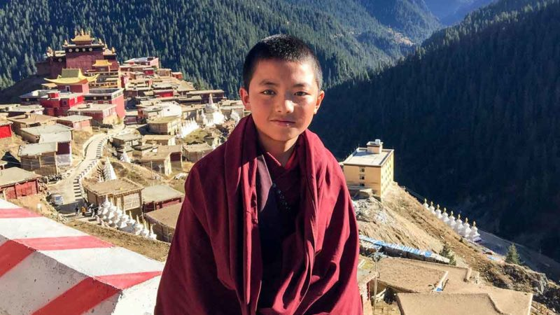 A young monk at Palpung Monastery in Kham, Tibet meters.