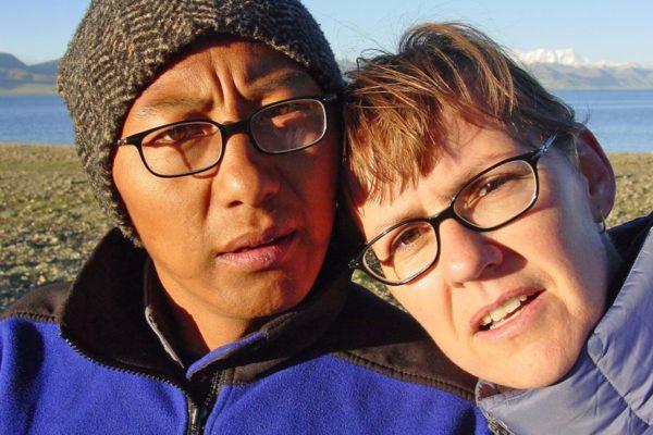 Lobsang and Yolanda at Lake Namtso