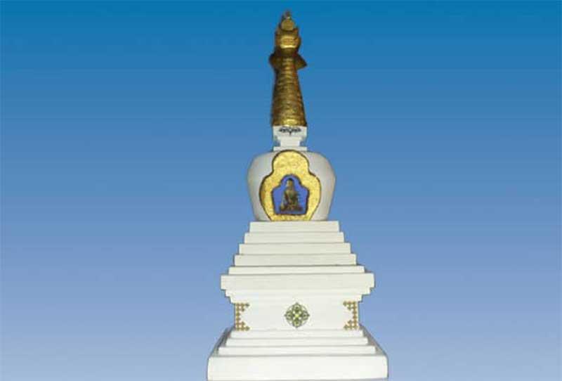 Hand-crafted stupa