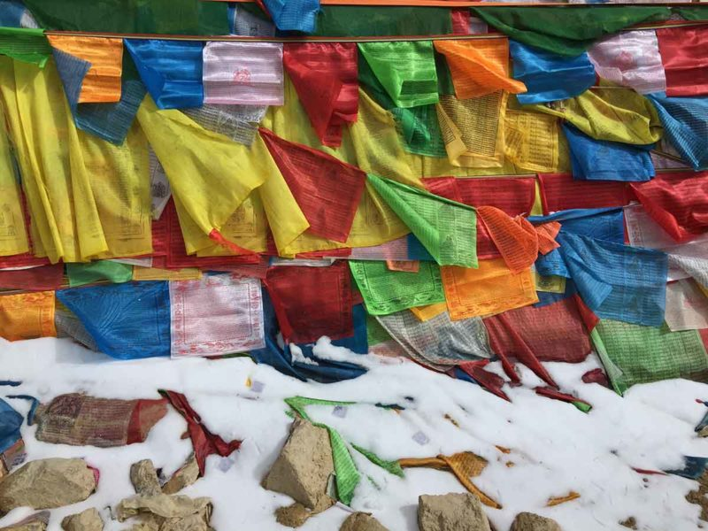 Prayer flags at the Tro La Pass Between Derge and Dzogchen.