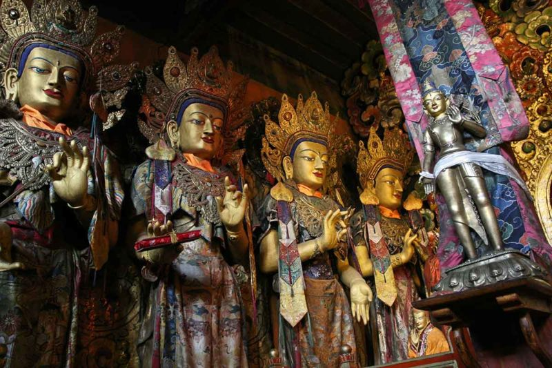Statues at Sera Monastery in Lhasa