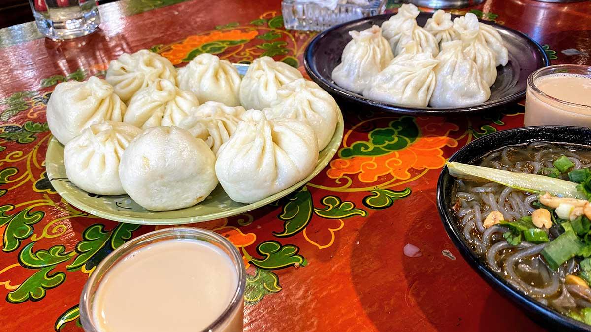 Momos (Tibetan Dumplings) in Tibet