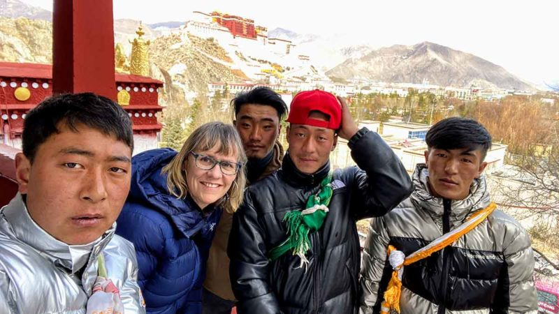 Lhasa Tibet: View of the Potala from the Palabuk