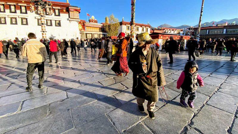 Lhasa Tibet Jokhang Square