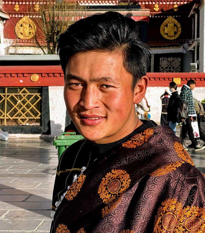 Lhasa Tibet Young Tibetan Man Jokhang