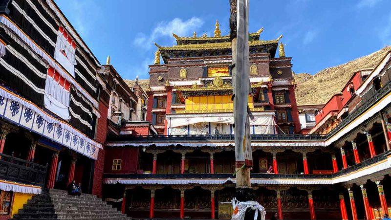 Tashilumpo Monastery in Shigatse, Tibet.