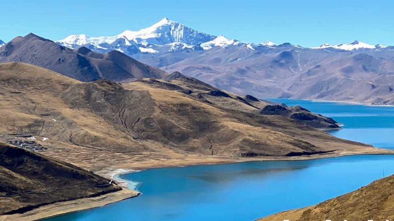 Tibetan Lake Yamdrok Tso