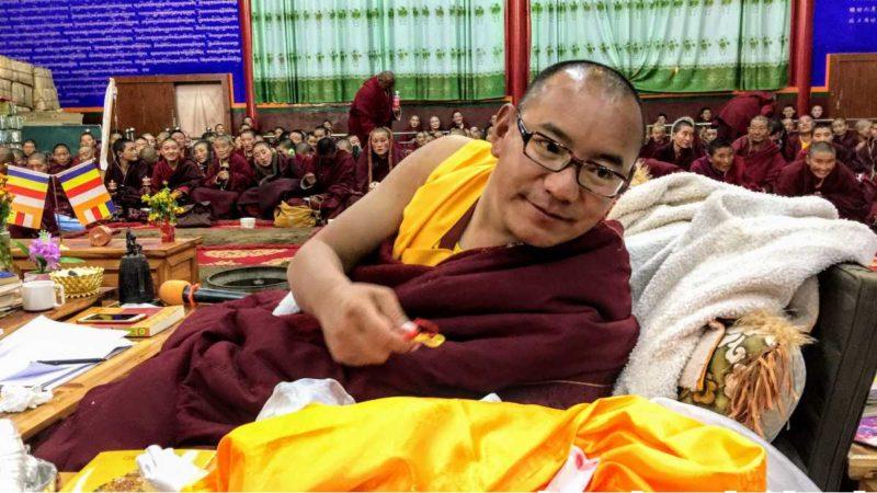 High Tibetan lama at Yarchen Gar in Kham