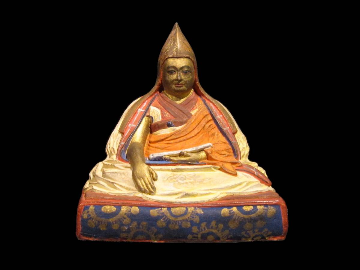 Statuette of the 5th Dalai Lama of Tibet at the Museum of Ethnology Vienna