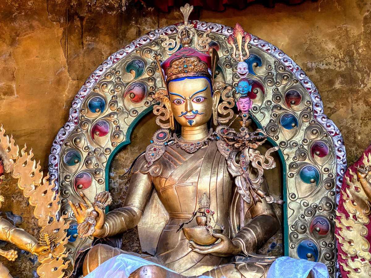 Guru Rinpoche – Padmasambhava of Tibet statue at Chimpu Hermitage chapel