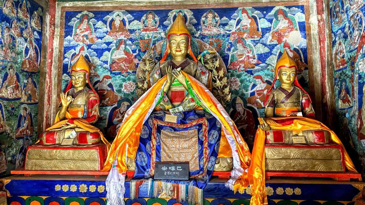 Je Tsongkhapa at Chotang Monastery Tibet