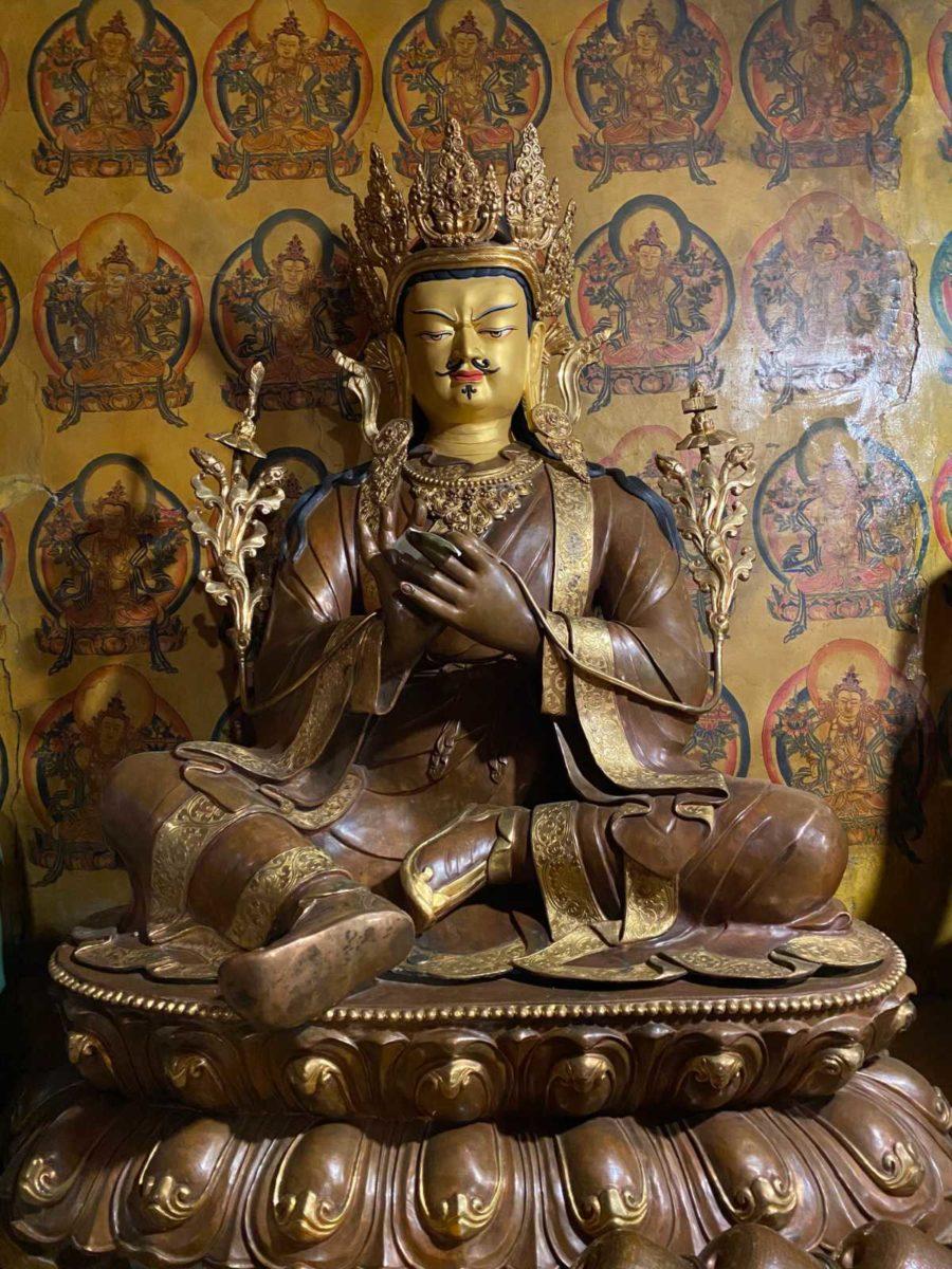 Trisong Detsen at Mindroling Monastery in Lhoka Tibet