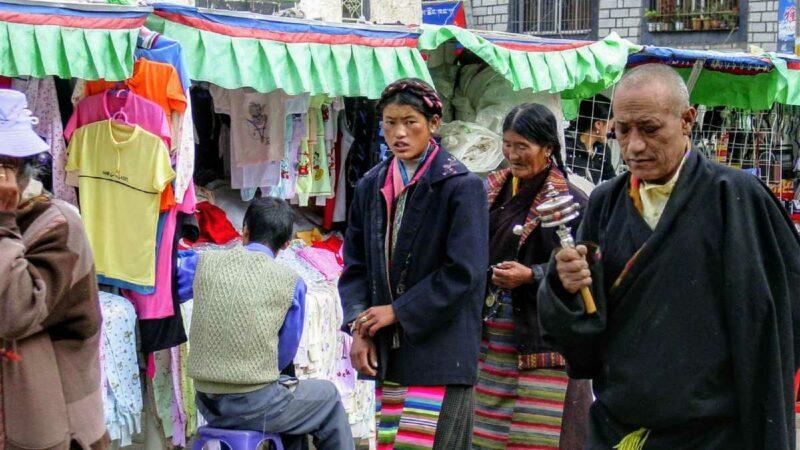 Barkhor Scene in Lhasa 2002