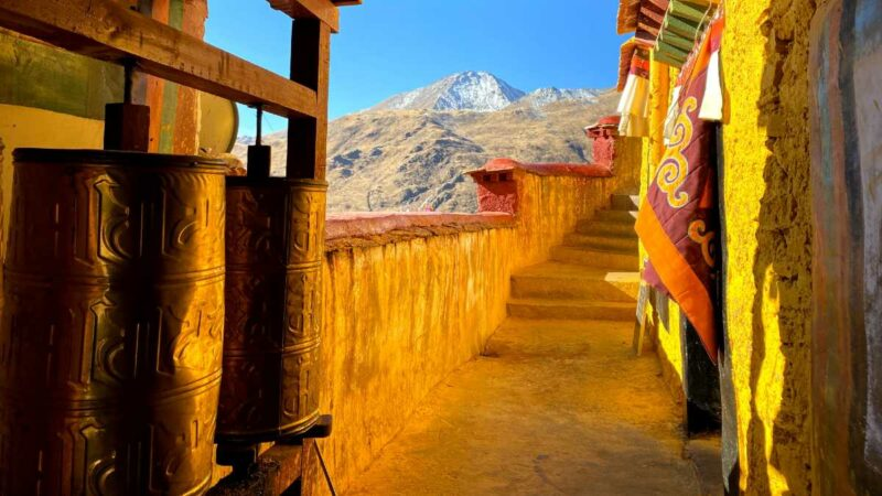 Drak Yerpa Hermitage Caves near Lhasa.