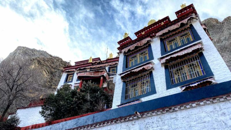 Front of the Palubuk Monastery at the base of the Chakpori near the Potala Palace in Lhasa.