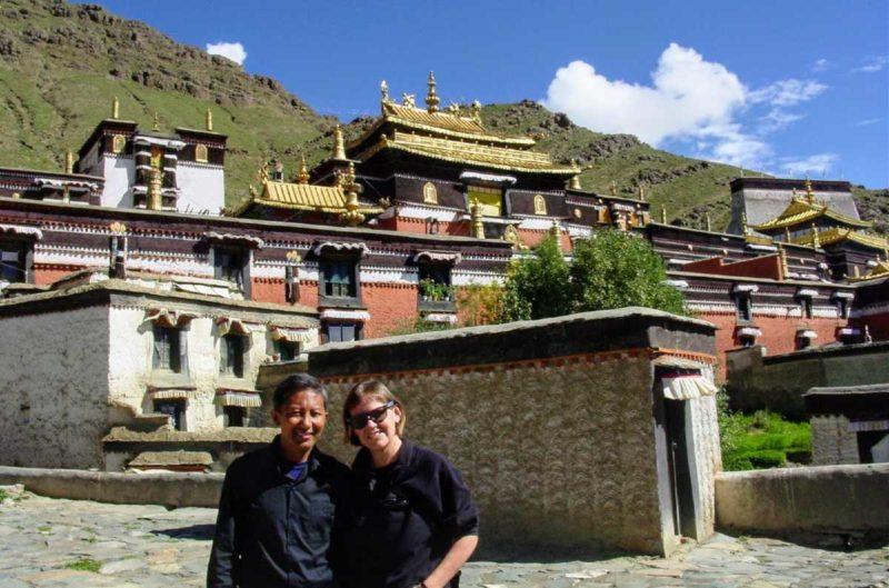 Lobsang and Yolanda at Tashilumpo Monastery