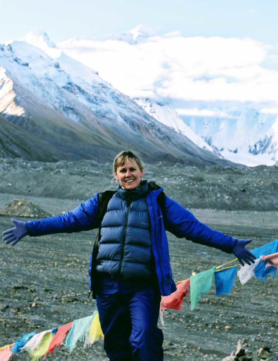 Yolanda at Everest Base Camp