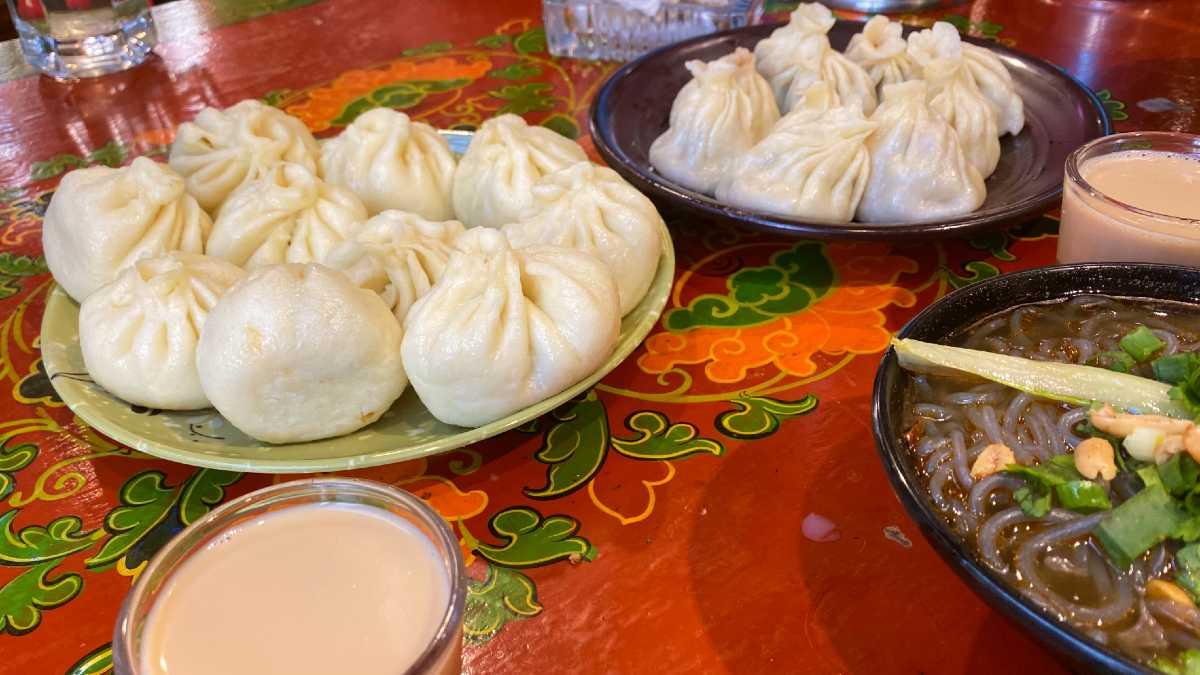 Momos at a Tibetan restaurant in Lhasa