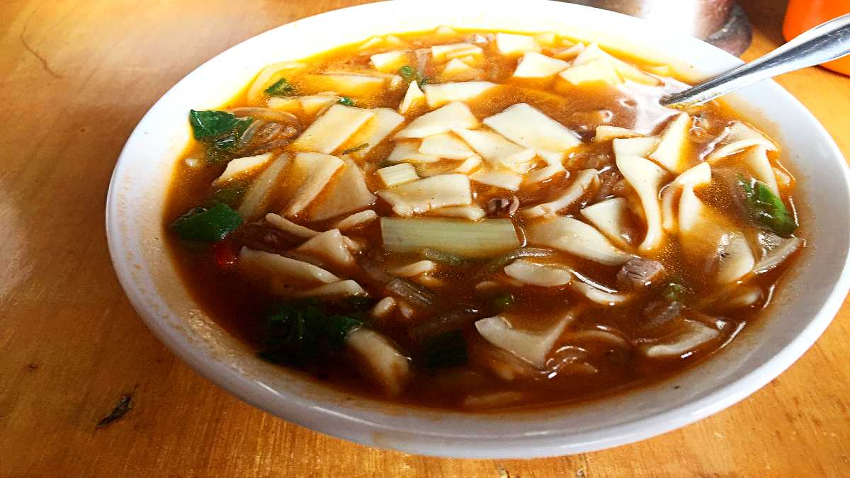 Thenthuk Noodle Soup in Lhasa Tibet