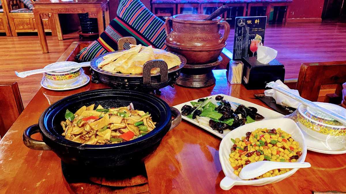 Tibetan restaurant in Lhasa.