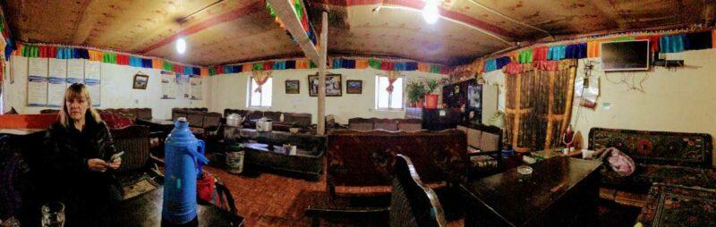 At Zutulpuk Monastery guest house on the Kailash trek.