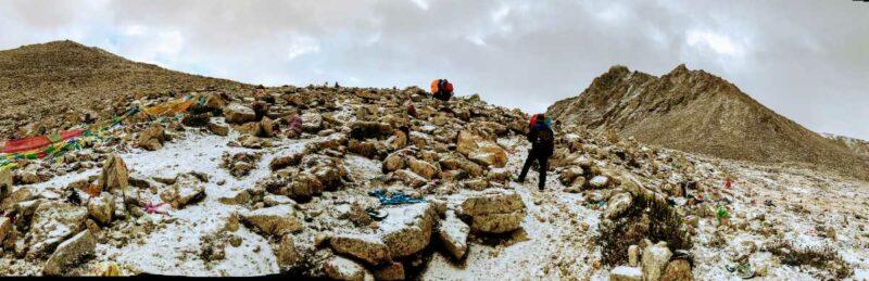 Dolma la pass on the Kailash trek.